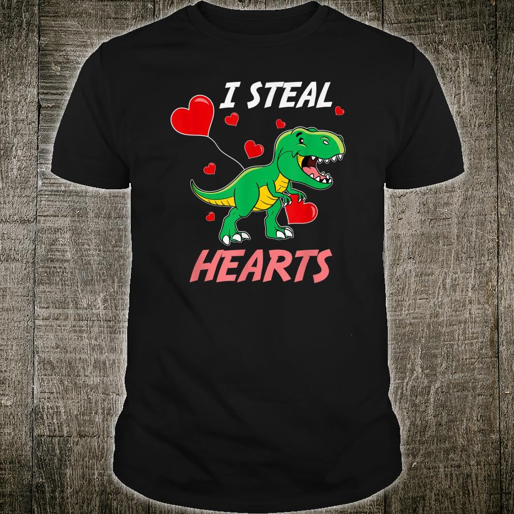 TRex I Steal Hearts Valentine's Day Shirt