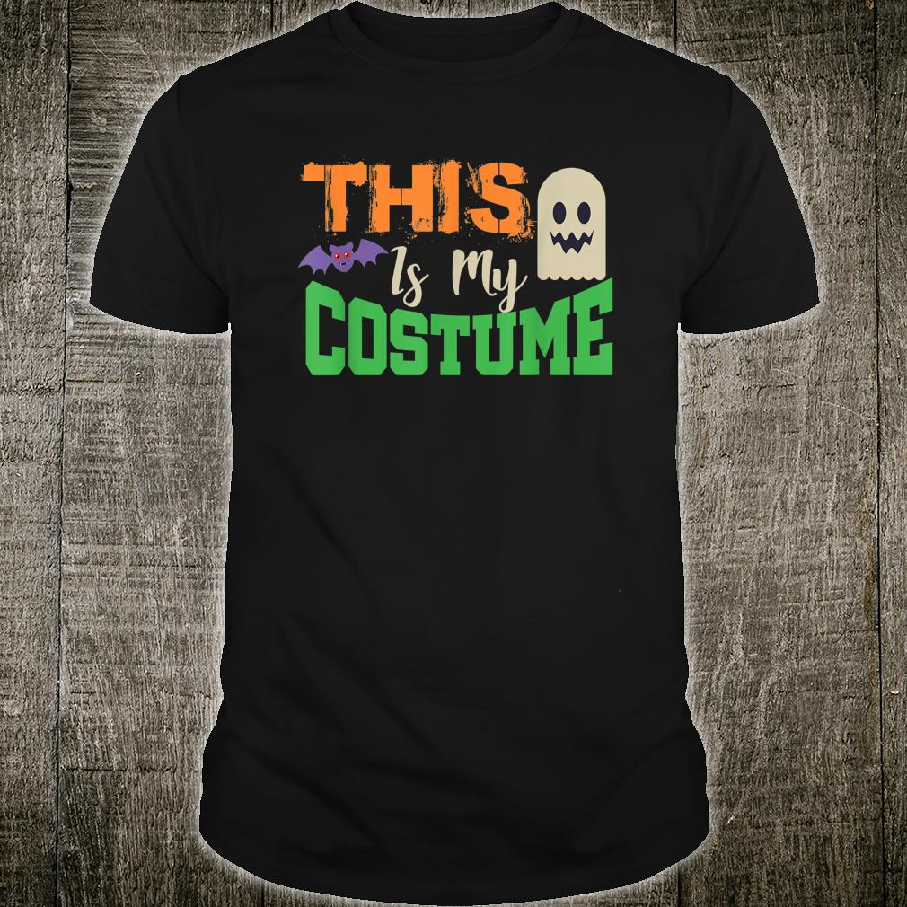 This Is My Costume Ghost Bat Shirt