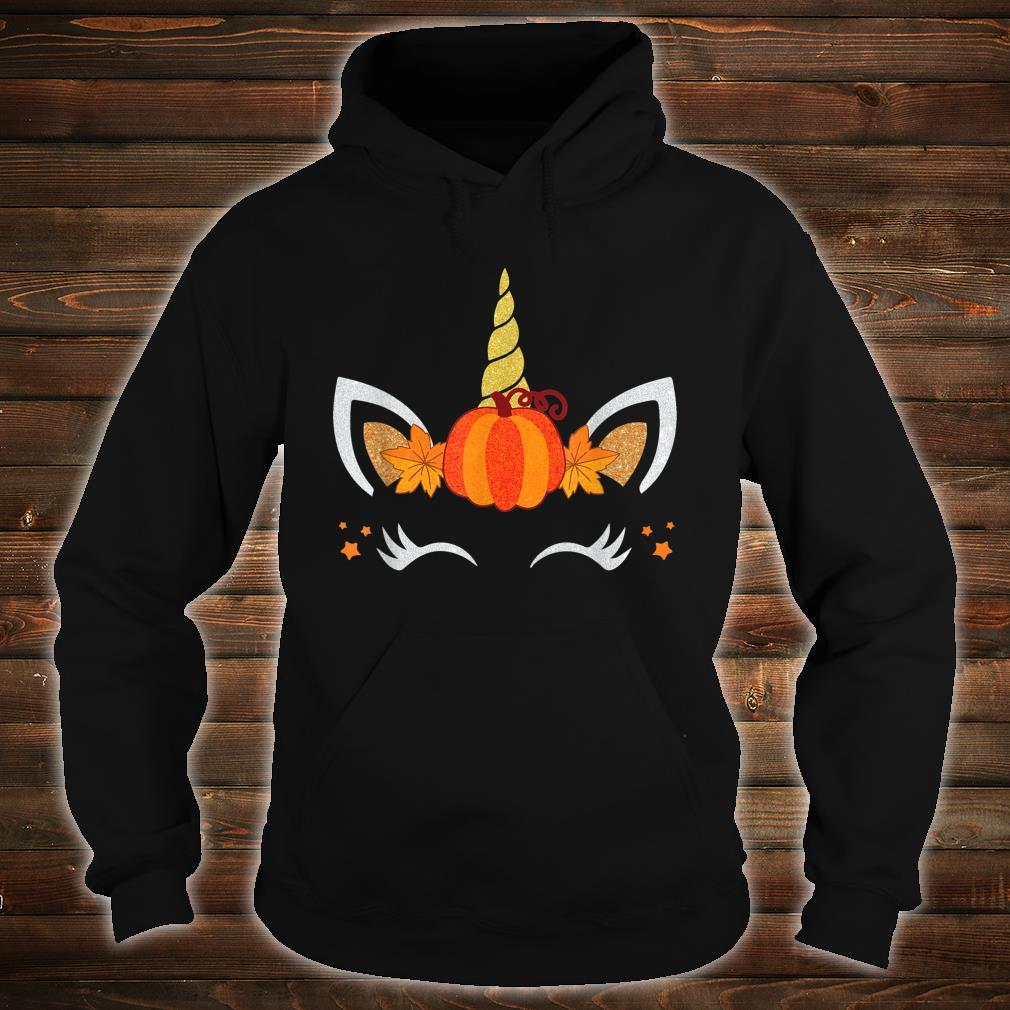 Unicorn Face Pumpkin Autumn Leaf Fall Thanksgiving Shirt hoodie