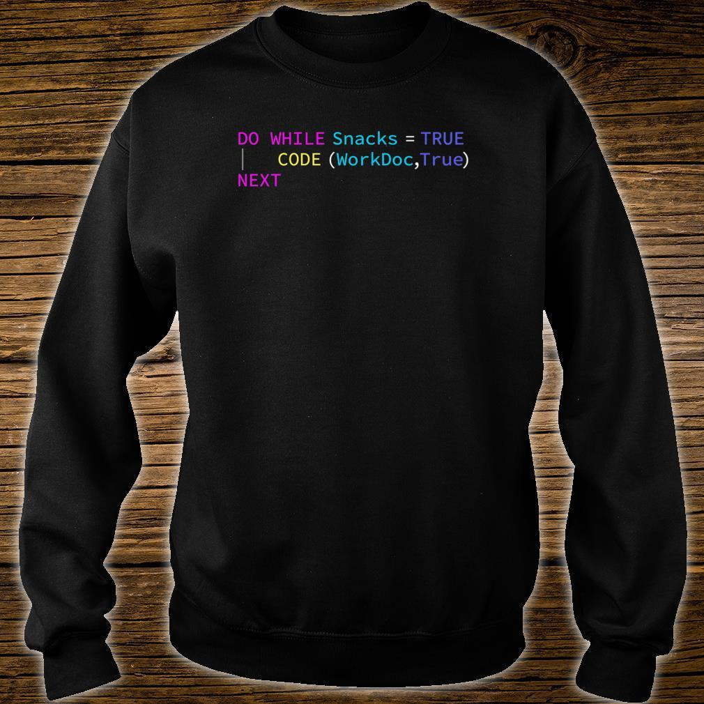 VCG Will Code for Snacks Shirt sweater