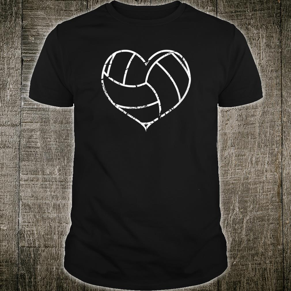 Valentines Day Volleyball Heart Grunge Shirt