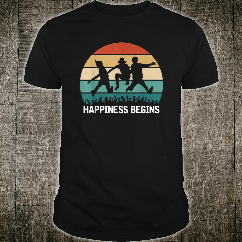 Vintage Begins Jonas Retro Tour 2019 Happiness Shirt