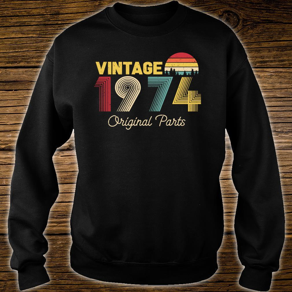 Vintage Original Parts 1974 Cool and 47th Bday Shirt sweater